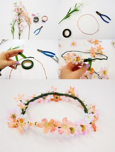 Make your own flower crown! You will need: • Aluminum wire, or floral wire • Floral tape • Wire cutters • Scissors • An assortment of fake flowers large or small! All of these supplies can be found at...