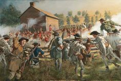 """The Battle of Williamson's Plantation (SC) also known as """"Huck's Defeat , July 12, 1780, by Don Troiani.  Captain Christian Huck of Tarleton's British Legion was terrorizing the countryside with a mixed force of Tories. He proclaimed """"even if the rebels were as thick as trees, and Jesus Christ would come down and lead them, he would still defeat them."""" Unfortunately, his command was taken by surprise at dawn and virtually annihilated and he was killed during the brief fight."""
