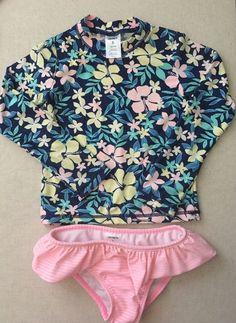 Carters Girls 2 Piece Rashguard Set, Size 6, Hawaiian 🌺 Tropical  | eBay