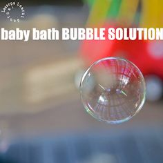 Baby bath bubble solution. Use a no more tears variety so if it does get into their eyes, it's not so painful. Also smells beautiful.
