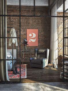 Um adorável loft com tudo que é trendy