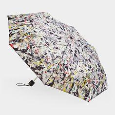 Mini Umbrella by Jackson Pollack - Artware Editions Mini Umbrella, Folding Umbrella, Jack Pollock, Dancing In The Rain, Rain Dance, Museum Of Modern Art, Moma, Famous Artists, White Light