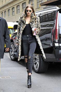 Gigi Hadig - animal print coat