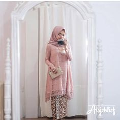 ❤ Spam Like Dapat Baju Gratis ❤ Mandha Long Tunik Pink Bahan Kebaya Modern Hijab, Kebaya Hijab, Kebaya Brokat, Kebaya Dress, Batik Kebaya, Dress Pesta, Kebaya Muslim, Muslim Dress, Muslim Fashion