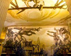 Jose Maria Sert murals in lobby GE Building #methodcandles   #firstimpressions