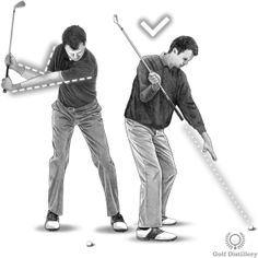 Backswing Drill - Step 2: When your right elbow is at a 90 degree angle, your club should point directly at the ball Golf Backswing, Golf Lessons, Golf Tips, Degree Angle, Positivity, Club, Baseball Cards, Drills, Sports