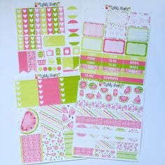 Here is the complete Watermelon kit that will be up in the shop later on today   #weloveec #erincondrenlifeplanner #erincondren  #filofax #kikkik #plannerlove #plannergoodies  #inkwellpressplanner #eclp #plannercommunity #mambi #etsy #etsyshop #happyplanner #plannerstickers #etsystickers #plannergirl #planner #mambiplanner #zytlalyshop #stickerkits #happyplanner by zytlalyshop