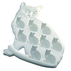 Cat Ice Cube Tray Set Of 2, $20, now featured on Fab.