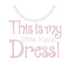 Designs :: Girls :: Little Black Dress