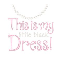 Designs :: Girls :: Little Black Dress