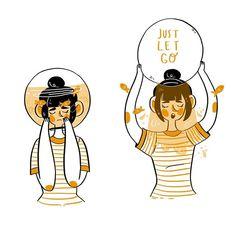 Another huevember !! This is number 5 🎃🎃  .  .  .  .  .  .    #illustration #digitalillustration #digitalart #characterdesign #cute #advice #selfcare #selflove #goldfish #orange #huevember