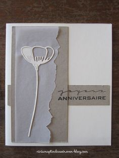 Cartes Simply Graphic & petits cadeaux Anniversary Greetings, Wedding Anniversary Cards, Memory Box Dies, Sympathy Cards, Greeting Cards, Practical Gifts, Card Tags, Cool Cards, Flower Cards