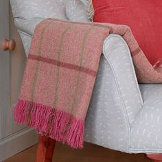Rather than a bunch of roses how about a Rose and Olive Check Shetland Wool throw for your loved one to snuggle up in....