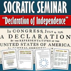 American Revolution - Declaration of Independence - Socratic Seminar with Rubric - A 18 page package related to the American Revolution and the Declaration of Independence. This package contains all of the necessary documents to facilitate a Socratic Seminar related to the Declaration of Independence.
