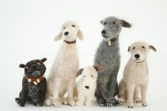 Felted dogs by Domenica More Gordon would make a cute friend for the fox I already made