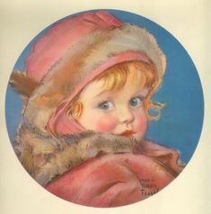 ART PRINT signed by Maud Tousey Fangel from very early 1930s.