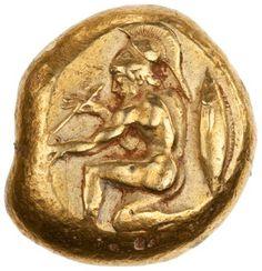Electrum stater, Cyzicus, 550 BC - 475 BC. 1959.254.62