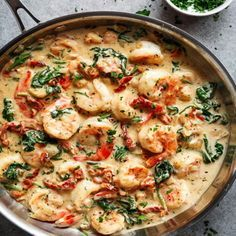 Creamy Garlic Butter Tuscan Shrimp Recipe Seafood is the absolute best. The shrimp and lobster meals are really delicious. You can't seem to get enough so we eat sushi. Cold, uncooked and gets to us faster. That sounds great! Creamy Garlic Butter Tuscan S Fish Recipes, Seafood Recipes, Low Carb Recipes, New Recipes, Dinner Recipes, Cooking Recipes, Favorite Recipes, Healthy Recipes, Best Shrimp Recipes