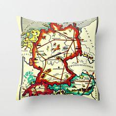 Vintage Map Pillow