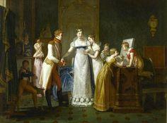 Despedida de María Luisa de su familia austríaca