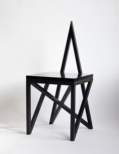 Contemporary Pagan chair*Material Lust , contemporary design, unconventional design, geometric furniture, design trends,  http://designgallerist.com/blog/contemporary-pagan-chairmaterial-lust/