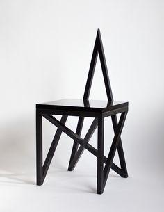 Contemporary Pagan chair*Material Lust , contemporary design, unconventional design, geometric furniture, design trends,  http://designgallerist.com/blog/contemporary-pagan-chairmaterial-lust/
