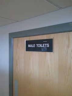 The Green I Signs Blog: Perspex wipe clean washroom door signs supplied & ...
