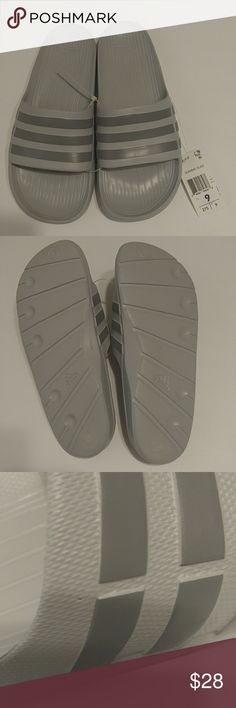 low priced 37833 a72ae Adidas Mens Duramo slides Brand new mens slides. The sandals have a very  tiny hole