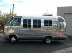 Airstream motorhome Airstream Bambi, Airstream Campers, Vintage Airstream, Vintage Travel Trailers, Camper Trailers, Airstream Interior, Vintage Motorhome, Camper Van, Mini Motorhome