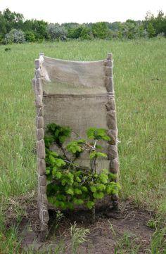 Защита молодых посадок хвойных растений от солнца.
