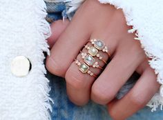 14kt rose gold and rose cut gray diamond bezel cluster ring – Luna Skye by Samantha Conn
