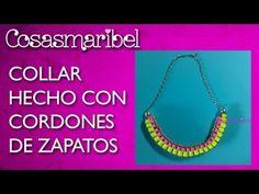 DIY:Como hacer un collar de moda con cordones de zapatos. - YouTube