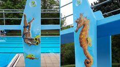 Projekt: 3 Meter Brett im Freibad