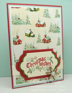 12 weeks of Christmas - Week 5 - Cozy Christmas, Lots of Labels framelits, Home for Christmas DSP - Rebecca Scurr - Independent Stampin' Up! demonstrator - www.facebook.com/thepaperandstampaddict
