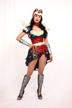 Steampunk Wonder Woman Cosplay Costume by apotheosiscosplay.deviantart.com on @deviantART