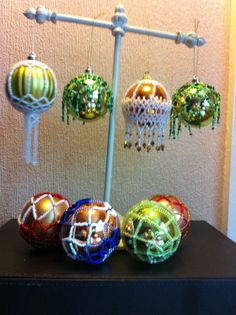 a selection of my beaded baubles