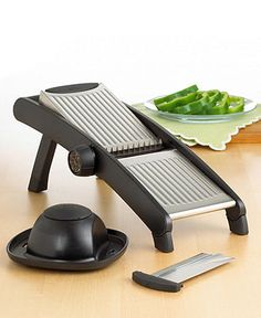 OXO Mandoline - Kitchen Gadgets - Awesome but scary....yes the guard is a neccesity!