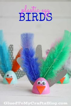 Plastic Egg Birds - Kid Craft