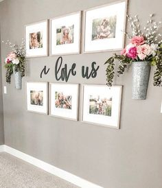 Farmhouse living room wall decor behind couch 28 ideas for 2019 Family Wall Decor, Hallway Wall Decor, Hallway Walls, Picture Wall Living Room, Living Room Wall Decor Diy, Cute Wall Decor, Entryway Decor, Letter Wall Decor, Family Room Decorating