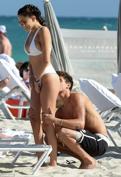 Naughty! Madison Beer and and her boyfriend Jack Gilinsky took things to the next level during a cheeky flirt-fest at the Fontainebleu Hotel in Miami Beach on Friday