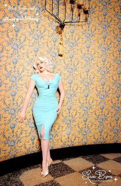 The Niagara Dress in Baby Blue! - Pinup Girl Style