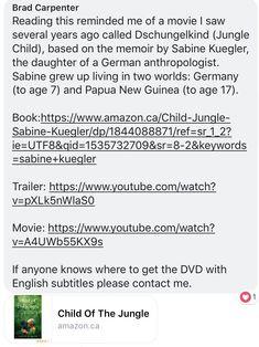 Sr1, Papua New Guinea, Memoirs, I Movie, Growing Up, Germany, Reading, World, Deutsch