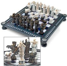 Harry Potter Sorcerer's Stone Final Challenge Chess Set Harry Potter Chess Set, Slytherin, Hogwarts, Chess Set Unique, Kings Game, 3d Prints, Chess Pieces, Board Games, Stone
