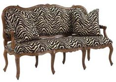 French Country animal print  Chair and Ottoman | French Heritage Loveseat & Loveseats Home Portfolio Ideas! Buy Vintage ...