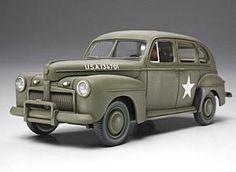 Tamiya 1/48 Scale 1942 U.S. Army Staff Car Model Kit.