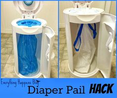 Everything Happens: Diaper Pail Hack (Dont Buy Those Expensive Bags!)