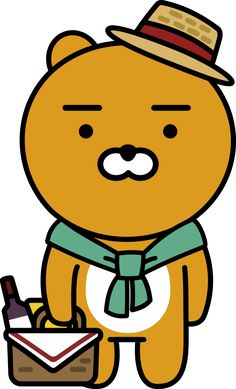 Friends Wallpaper, Bear Wallpaper, Character Illustration, Graphic Illustration, Ryan Bear, Kakao Ryan, Kakao Friends, Kawaii, Illustrations And Posters