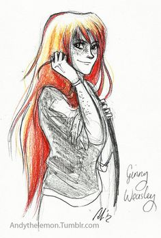 Ginny Weasley by http://andythelemon.tumblr.com/