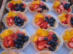 fruit in waffle cones by nell