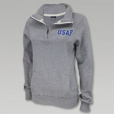 Air Force Ladies 1/4 Zip Sweatshirt